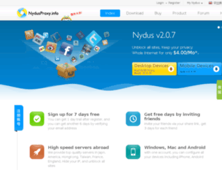 nydusproxy.com screenshot