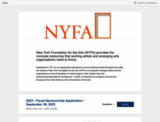 nyfasponsorship.submittable.com screenshot