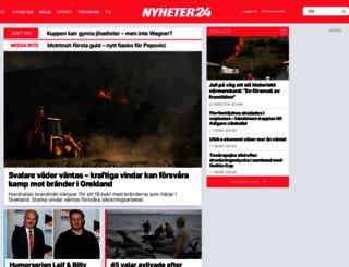 nyheter24.se screenshot