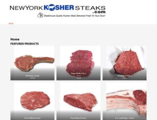 nykoshersteaks.com screenshot