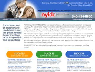 nylearningdisabilitycounseling.com screenshot