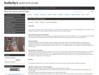 nylibrary.sothebysinstitute.com screenshot
