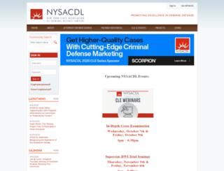 nysacdl.org screenshot