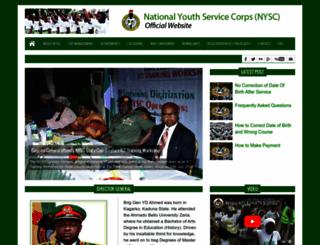nysc.gov.ng screenshot