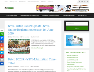 nysconline.com.ng screenshot
