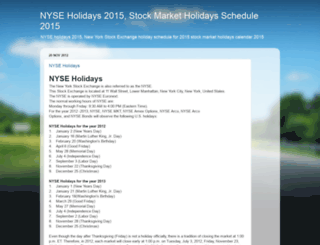 nyseholidays.blogspot.com screenshot