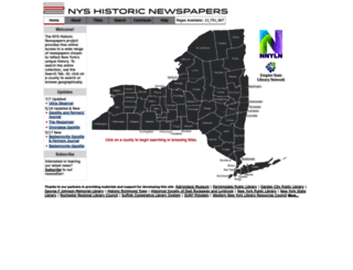 nyshistoricnewspapers.org screenshot
