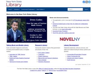 nysl.nysed.gov screenshot