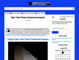 nytcrosswordanswers.com screenshot