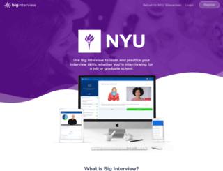 nyu.biginterview.com screenshot