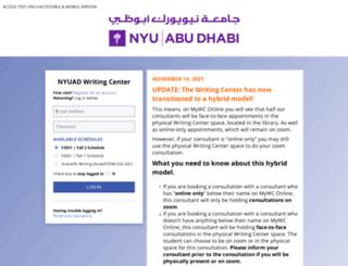 nyuad.mywconline.com screenshot
