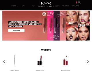 nyxcosmetics.de screenshot