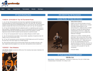 nyyouthwrestling.com screenshot