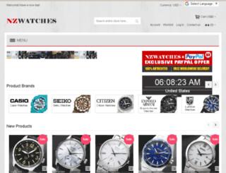 nzwatches.co.nz screenshot
