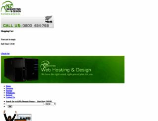 nzwebhosting.co.nz screenshot