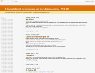 o-ser-adormecido.blogspot.com screenshot