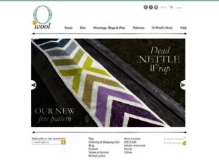o-wool.com screenshot