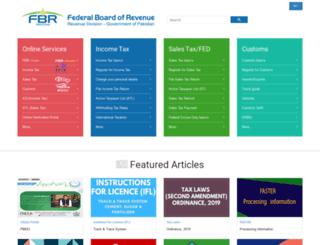 o.fbr.gov.pk screenshot
