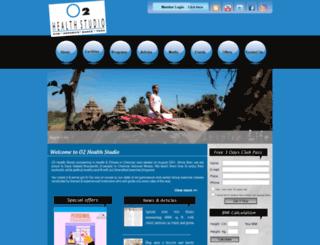o2healthstudio.com screenshot