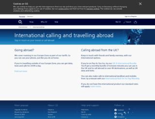 o2international.co.uk screenshot