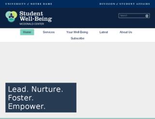 oade.nd.edu screenshot