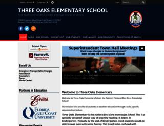 oak.leeschools.net screenshot