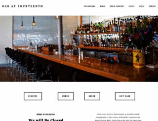 oakatfourteenth.com screenshot