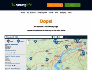 oakbridge.younglife.org screenshot