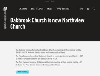 oakbrookchurch.com screenshot
