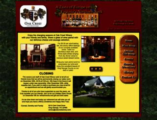 oakcrestwinery.com screenshot