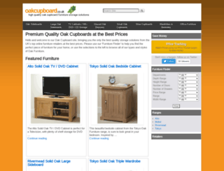 oakcupboard.co.uk screenshot