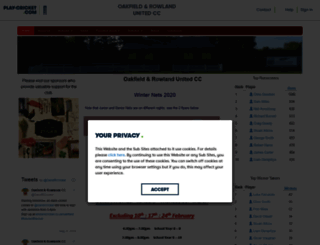 oakfield.play-cricket.com screenshot