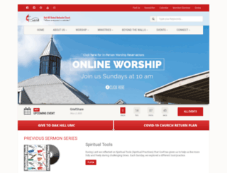 oakhillumc.org screenshot