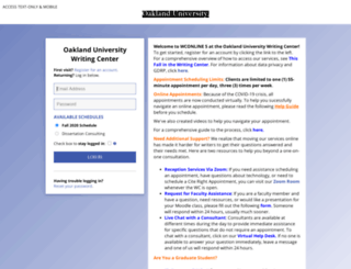 oakland.mywconline.com screenshot