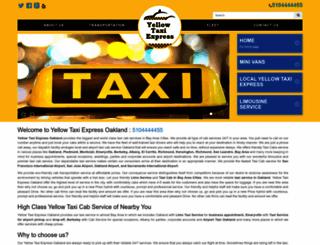 oaklandcabexpress.com screenshot