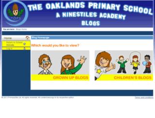 oaklands.primaryblog.net screenshot