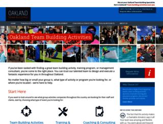 oaklandteambuilding.com screenshot