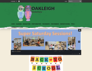 oakleighes.bcps.org screenshot