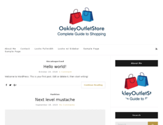 oakleyoutletstore.net.co screenshot