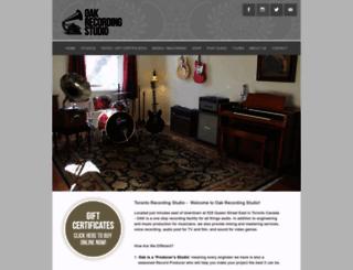 oakrecordingstudio.com screenshot