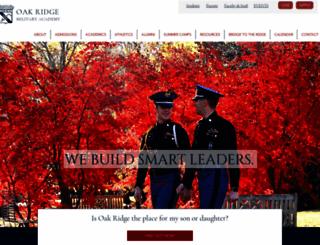 oakridgemilitary.com screenshot