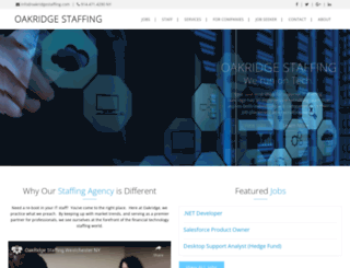 oakridgestaffing.com screenshot