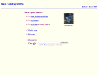 oakroadsystems.com screenshot