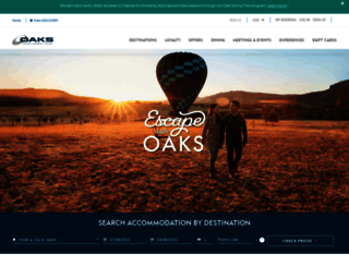oakshotelsresorts.com screenshot