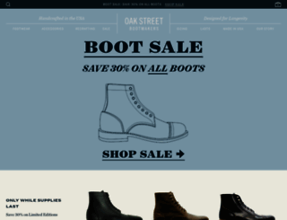 oakstreetbootmakers.com screenshot