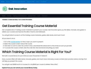 oaktraining.com screenshot