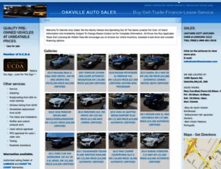 oakvilleautosales.com screenshot