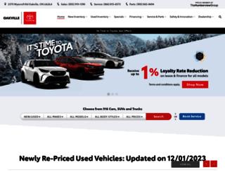 oakvilletoyota.com screenshot