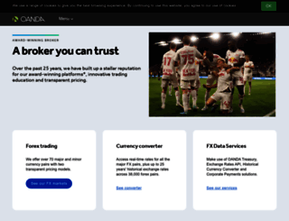oanda.com screenshot