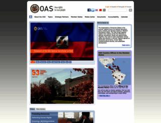 oas.org screenshot